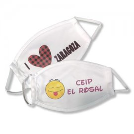 Mascarilla Interlock reutilizable sublimada